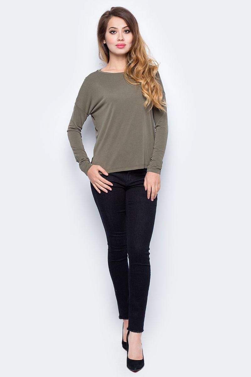 Джемпер жен Sela, цвет: серый хаки. T-311/1146-7311. Размер S (44)T-311/1146-7311