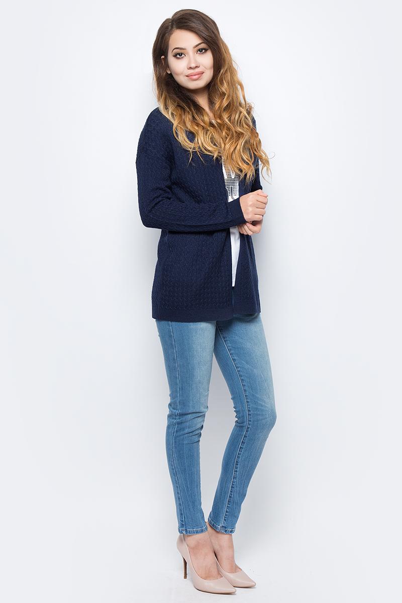 Жакет жен Sela, цвет: синий. CN-114/2036-7321. Размер XL (50)CN-114/2036-7321
