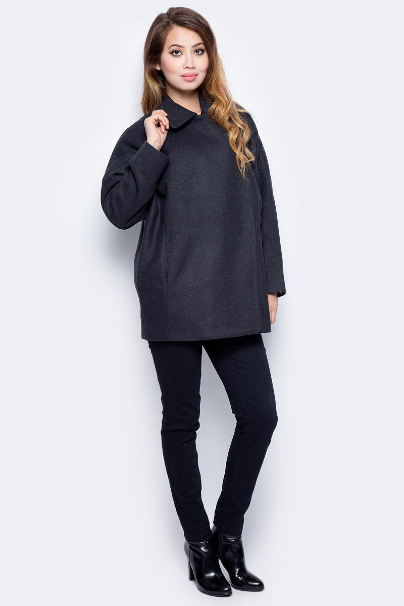 Пальто женское Sela, цвет: темно-синий. Ce-126/1013-7311. Размер L (48)