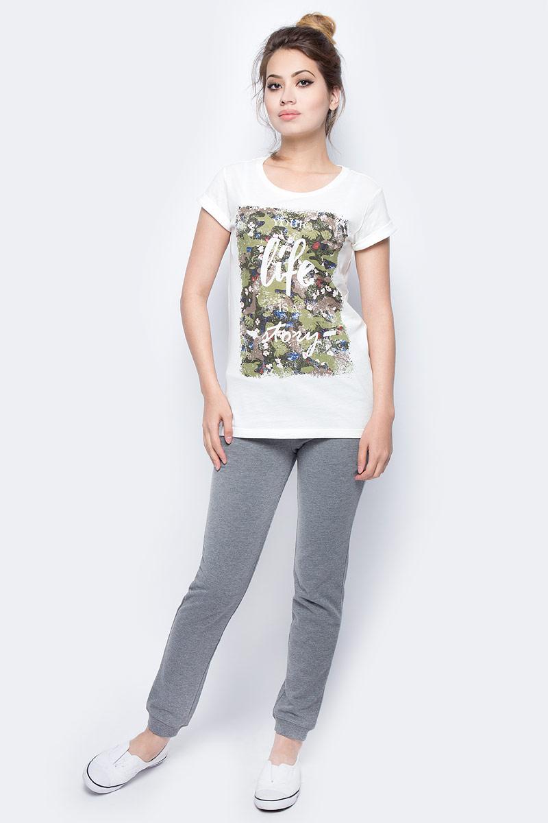 Брюки жен Sela, цвет: темно-серый меланж. Pk-115/854-7351. Размер XS (42)Pk-115/854-7351