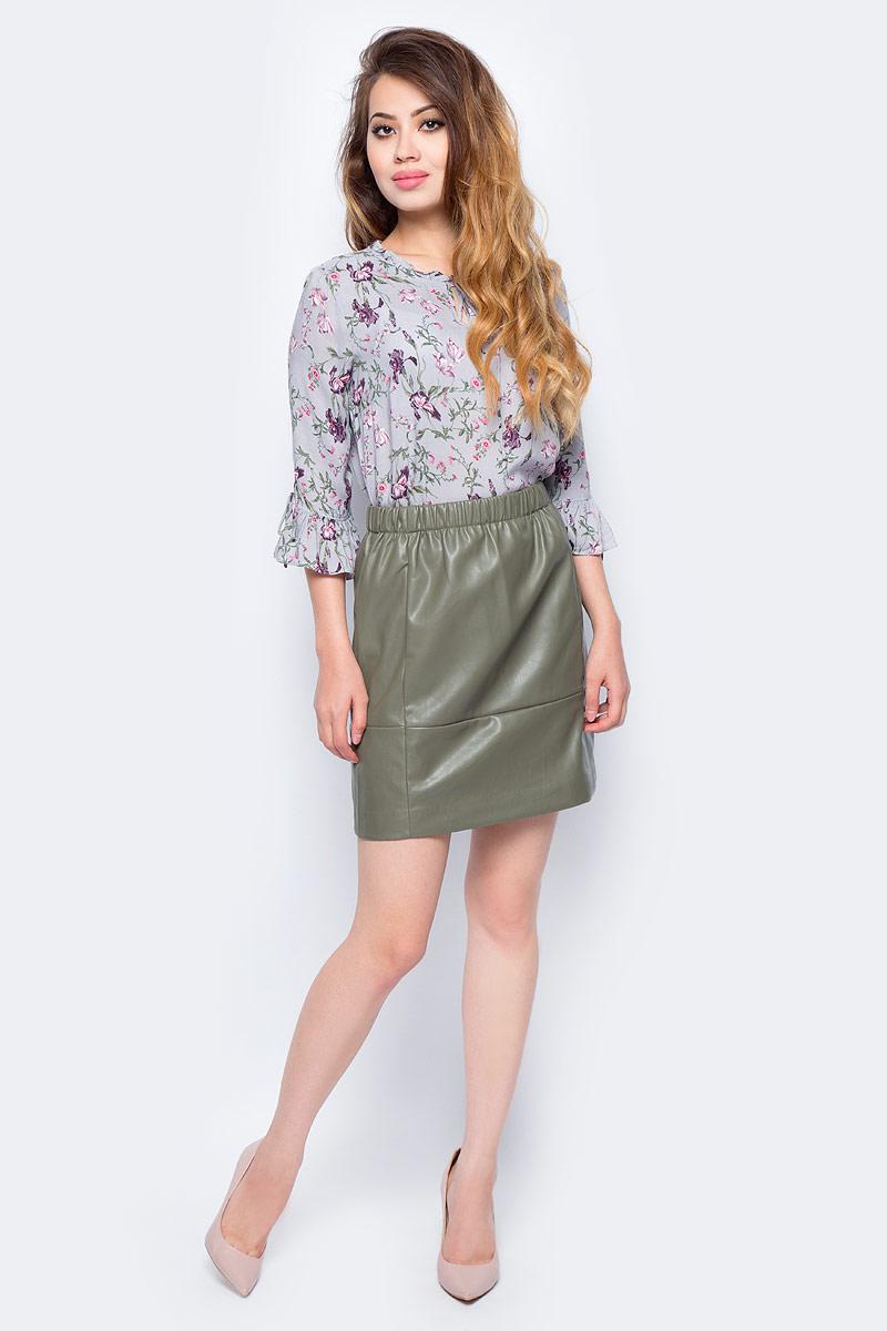 Блузка жен Sela, цвет: пыльно-серый. Tw-112/1273-7341. Размер 44Tw-112/1273-7341