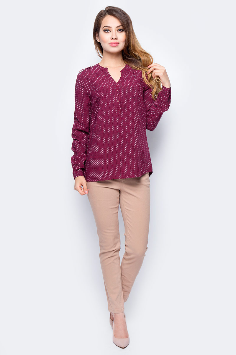 Блузка жен Sela, цвет: сангрия. B-112/1321-7321. Размер 42B-112/1321-7321