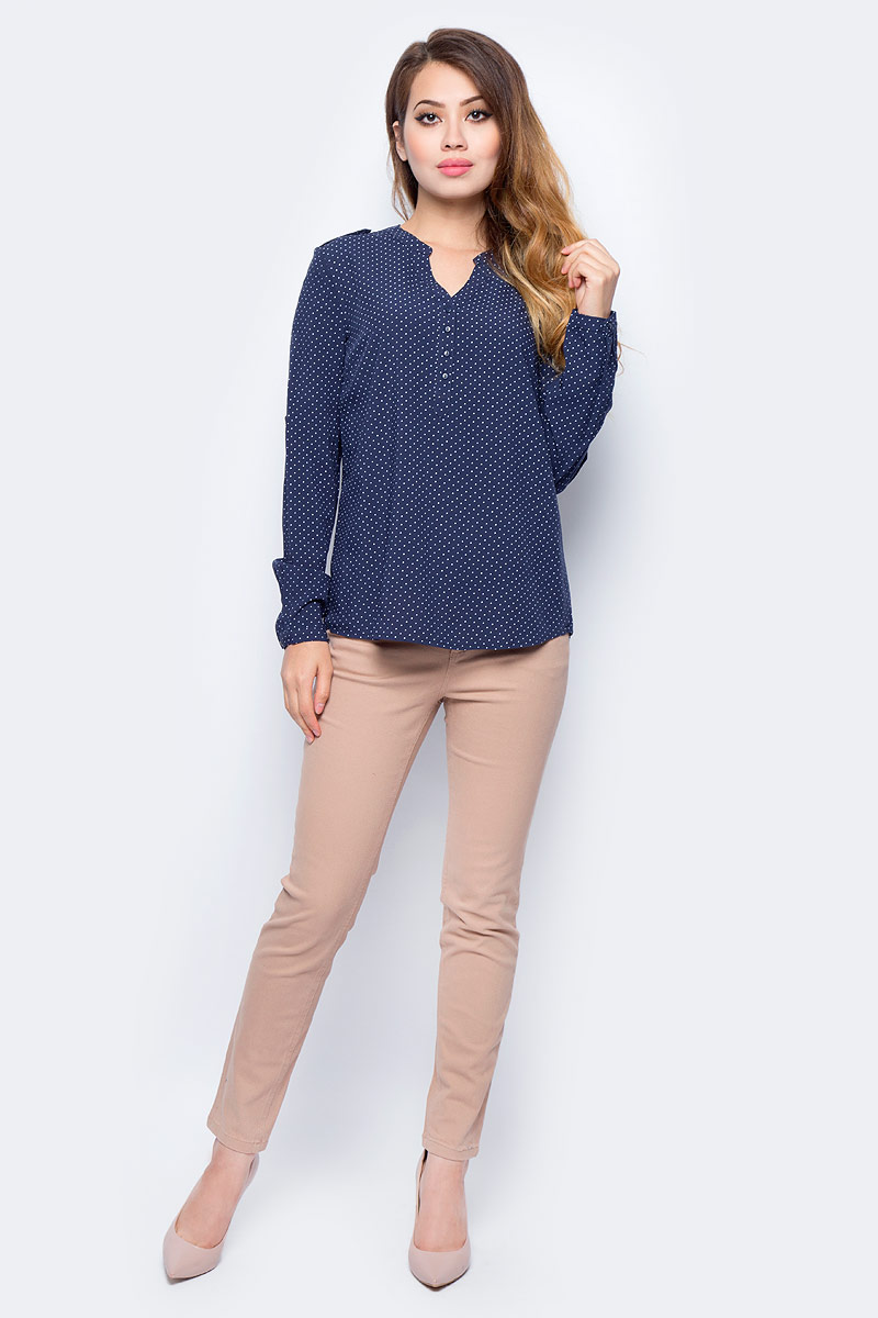 Блузка жен Sela, цвет: синий. B-112/1321-7321. Размер 48B-112/1321-7321