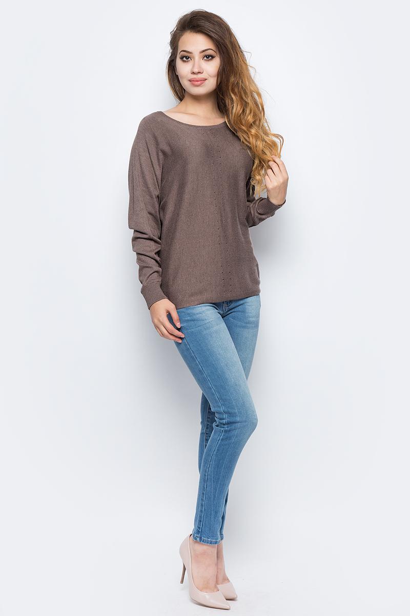 Джемпер жен Sela, цвет: какао меланж. JR-114/2070-7321. Размер S (44)JR-114/2070-7321
