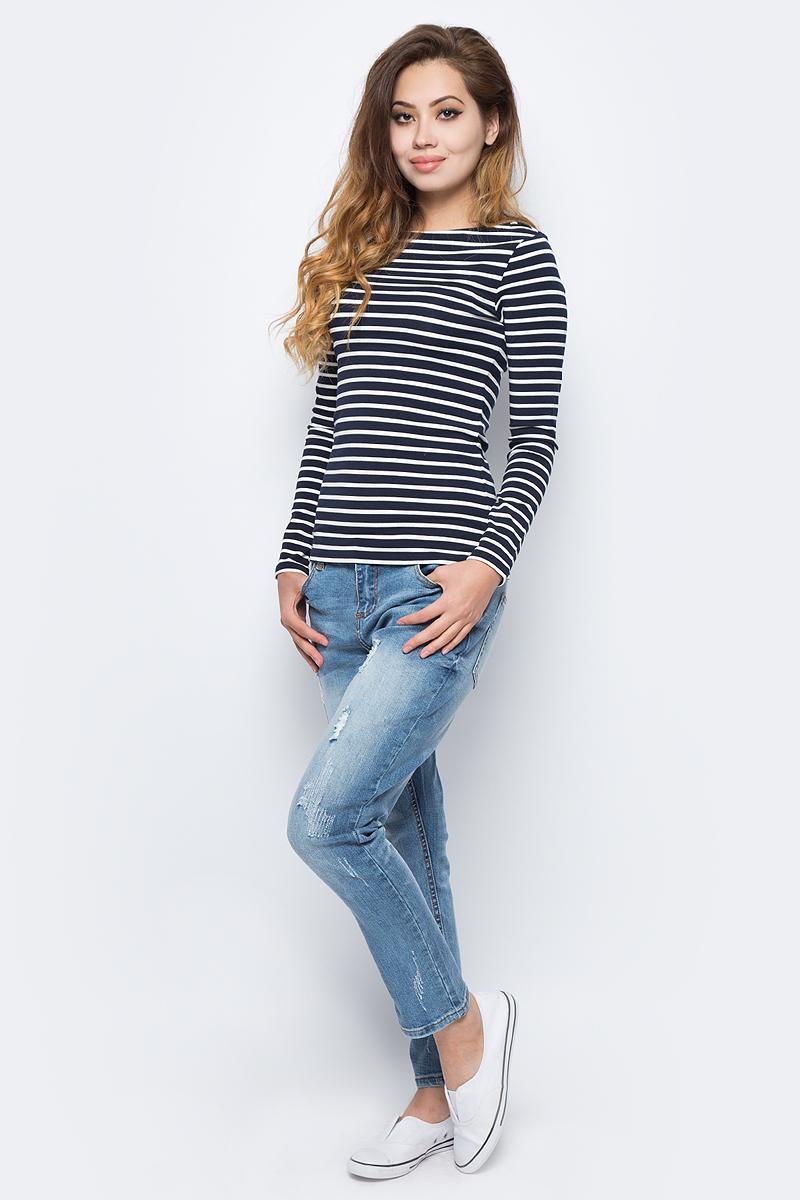 Джемпер жен Sela, цвет: синий. T-111/4478-7390. Размер XS (42)T-111/4478-7390