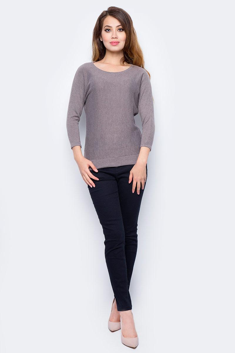 Джемпер жен Sela, цвет: темно-бежевый меланж. JR-114/1260-7422. Размер M (46)JR-114/1260-7422