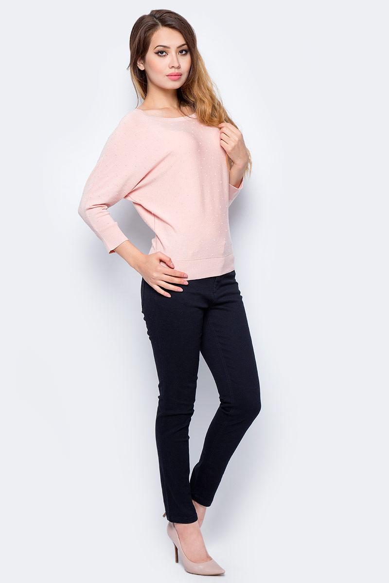 Джемпер жен Sela, цвет: бледный персик. JR-114/1201-7321. Размер L (48)JR-114/1201-7321