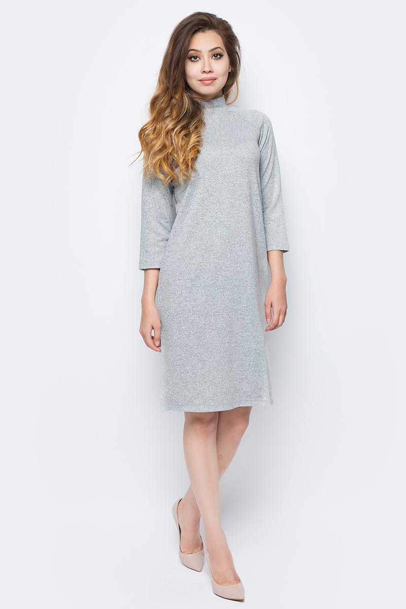 Платье жен Sela, цвет: серый меланж. DK-117/1221-7321. Размер L (48)DK-117/1221-7321