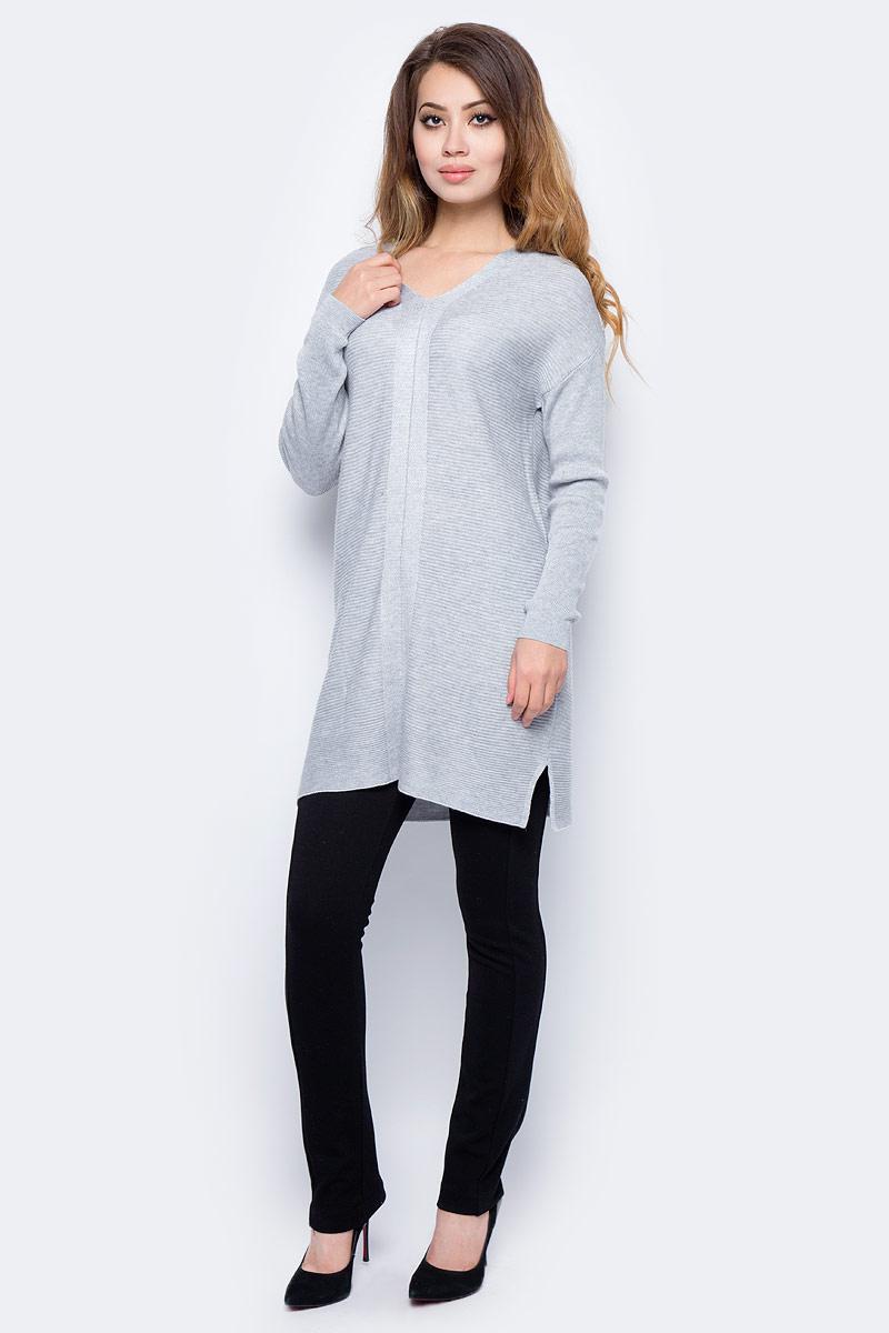 Джемпер жен Sela, цвет: серый меланж. TKsw-114/1203-7321. Размер XS (42)TKsw-114/1203-7321