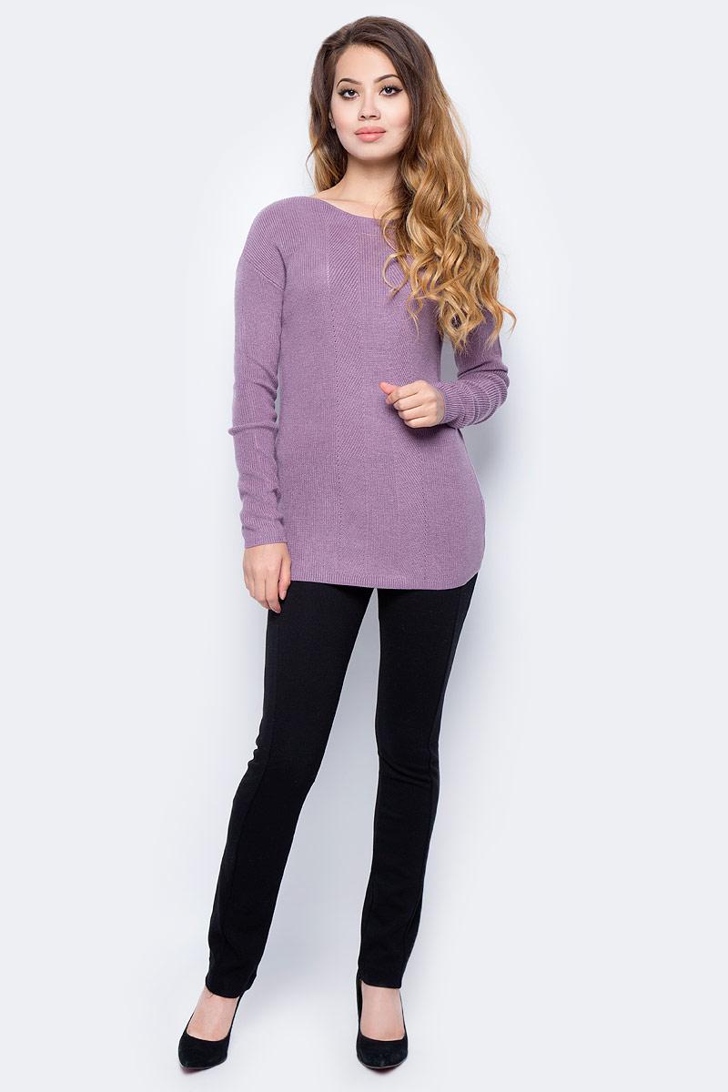 Джемпер жен Sela, цвет: амарантовый меланж. JR-114/1251-7321. Размер L (48)JR-114/1251-7321