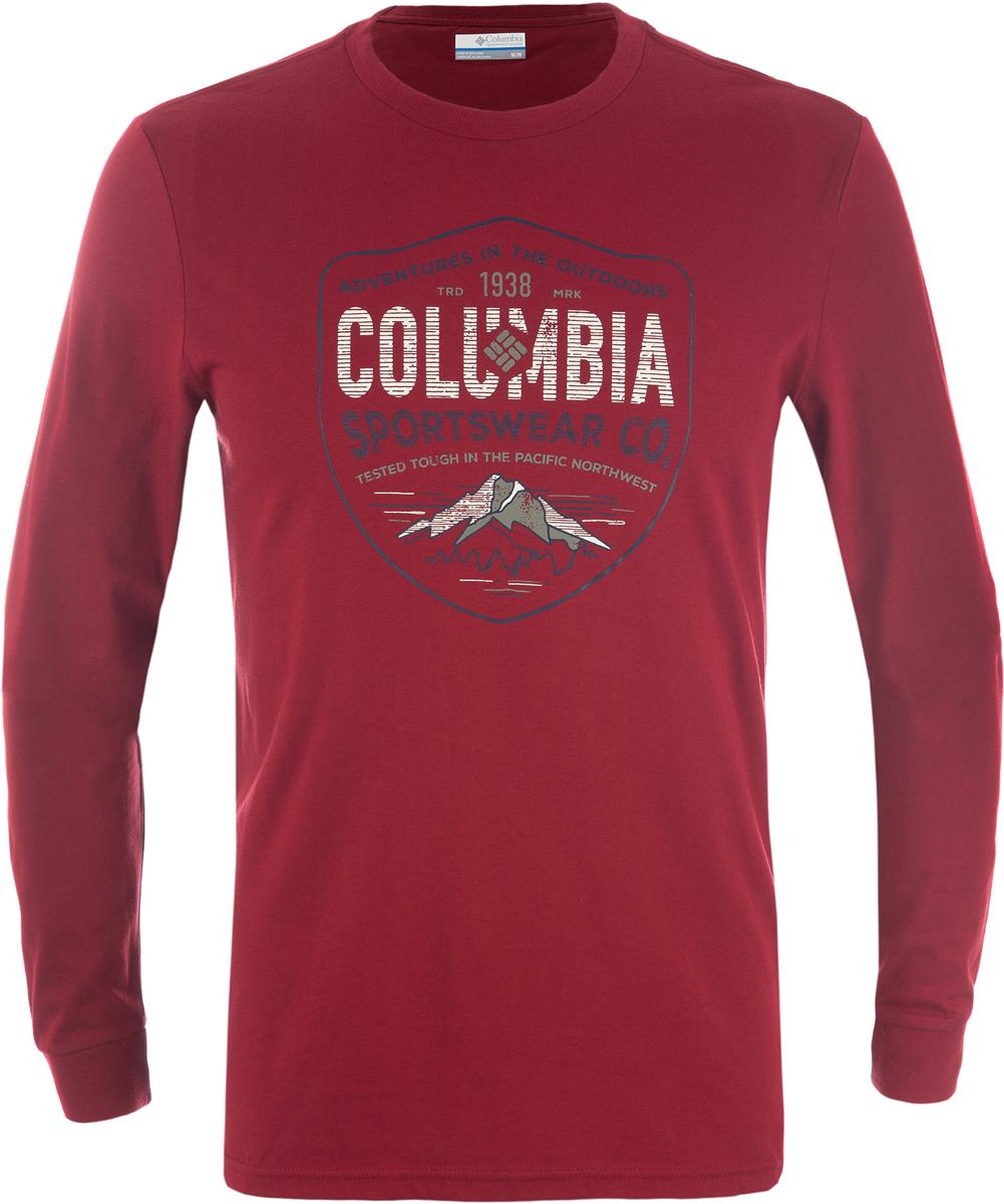 Футболка муж Columbia Rugged Shield Ls M T-Shirt, цвет: бордовый. 1739411-607. Размер M (46/48)1739411-607Мужская футболка с длинным рукавом, выполненная из натуральных тканей прекрасно дополнит гардероб.