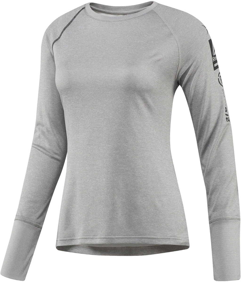 Термобелье футболка с длинным рукавом жен Reebok OD Thrml BL F TOP, цвет: серый. S96420. Размер S (42/44)S96420В этой удобной футболке с длинным рукавом тренировки на улице будут приносить еще больше радости. Теплый материал с технологией отвода влаги подарит ощущение комфорта и сухости. Плоские швы предотвращают риск натирания, а эластичные манжеты обеспечат оптимальную посадкуОблегающий крой идеально подходит для тренировок и повторяет каждое движениеИдеально для занятий спортом в прохладную погодуТехнология Speedwick отводит излишки влаги с поверхности тела, оставляя ощущение сухости и комфортаМягкий эластичный пояс для комфортной посадкиПлоские швы сводят к минимуму риск натиранияМатериал: 100% полиэстер, ткань двойного плетения для эластичности и тепла