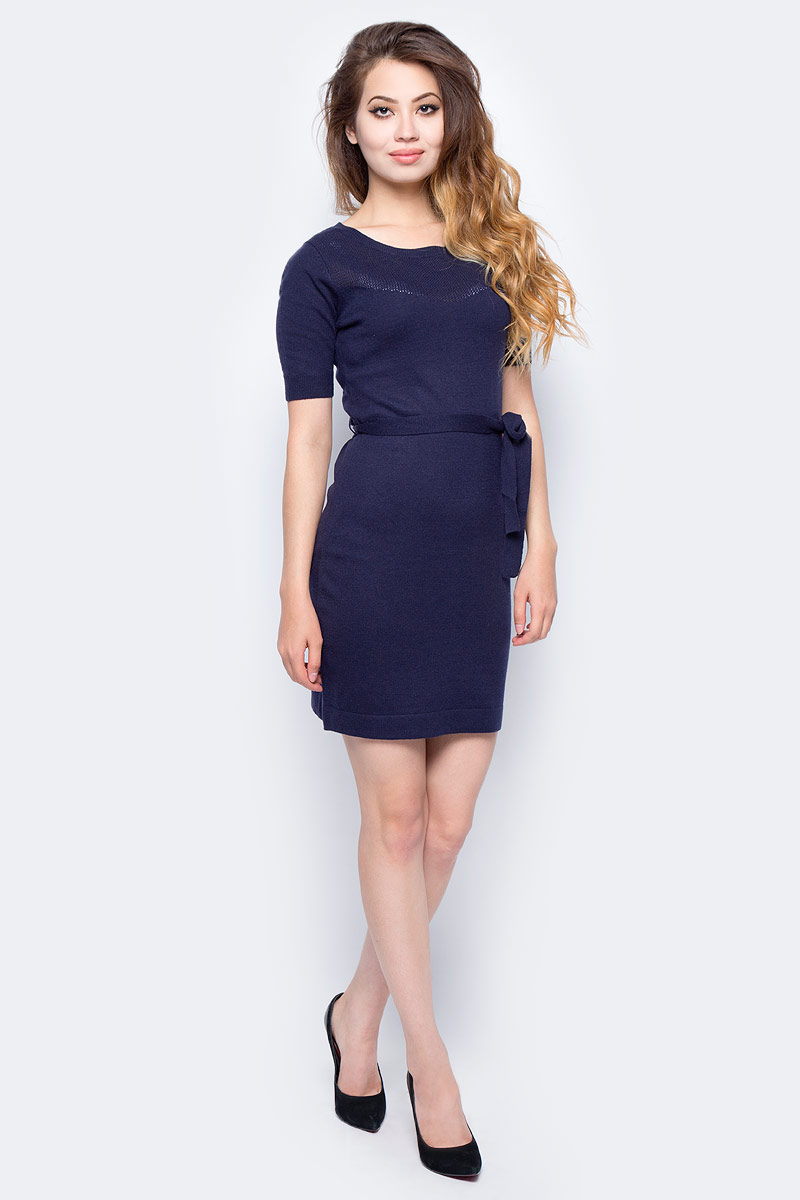 Платье жен Sela, цвет: синий. DSw-117/227-7321. Размер XL (50)DSw-117/227-7321