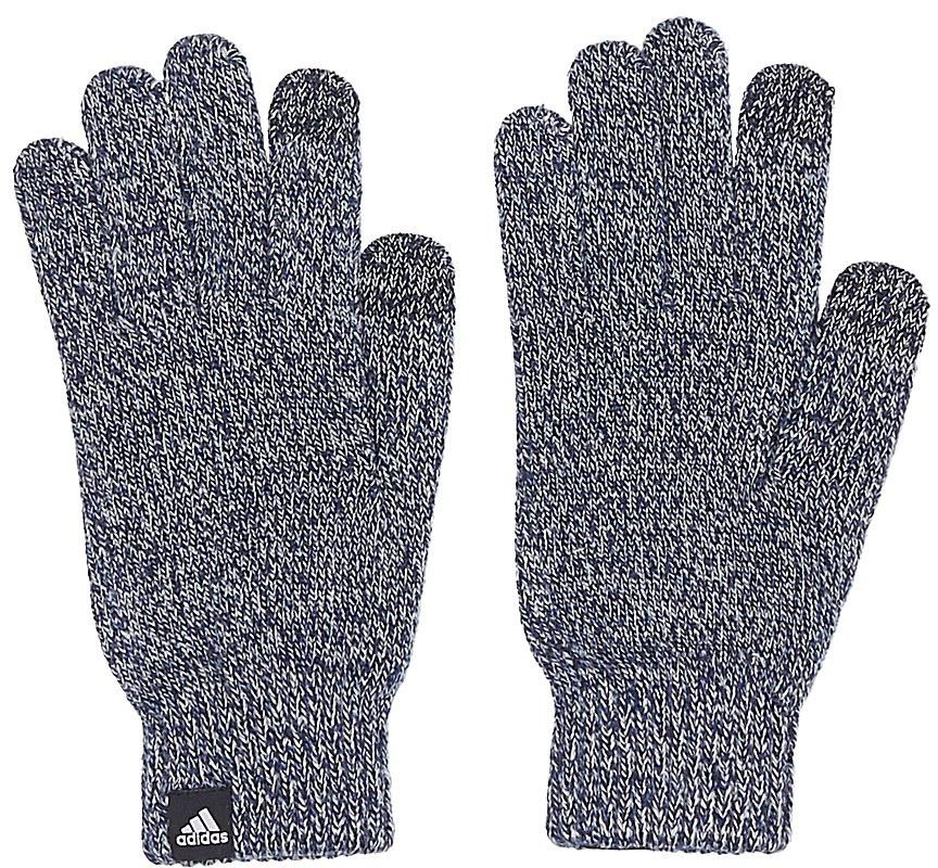 Перчатки Adidas Knit Glove Cond, цвет: темно-синий. BP5341. Размер S (18)BP5341Перчатки взр.• Логотип, сочетающийся по цвету:• 2-цветный меланжевый эффект:• Кондуктивные кончики пальцев длясенсорного экрана: