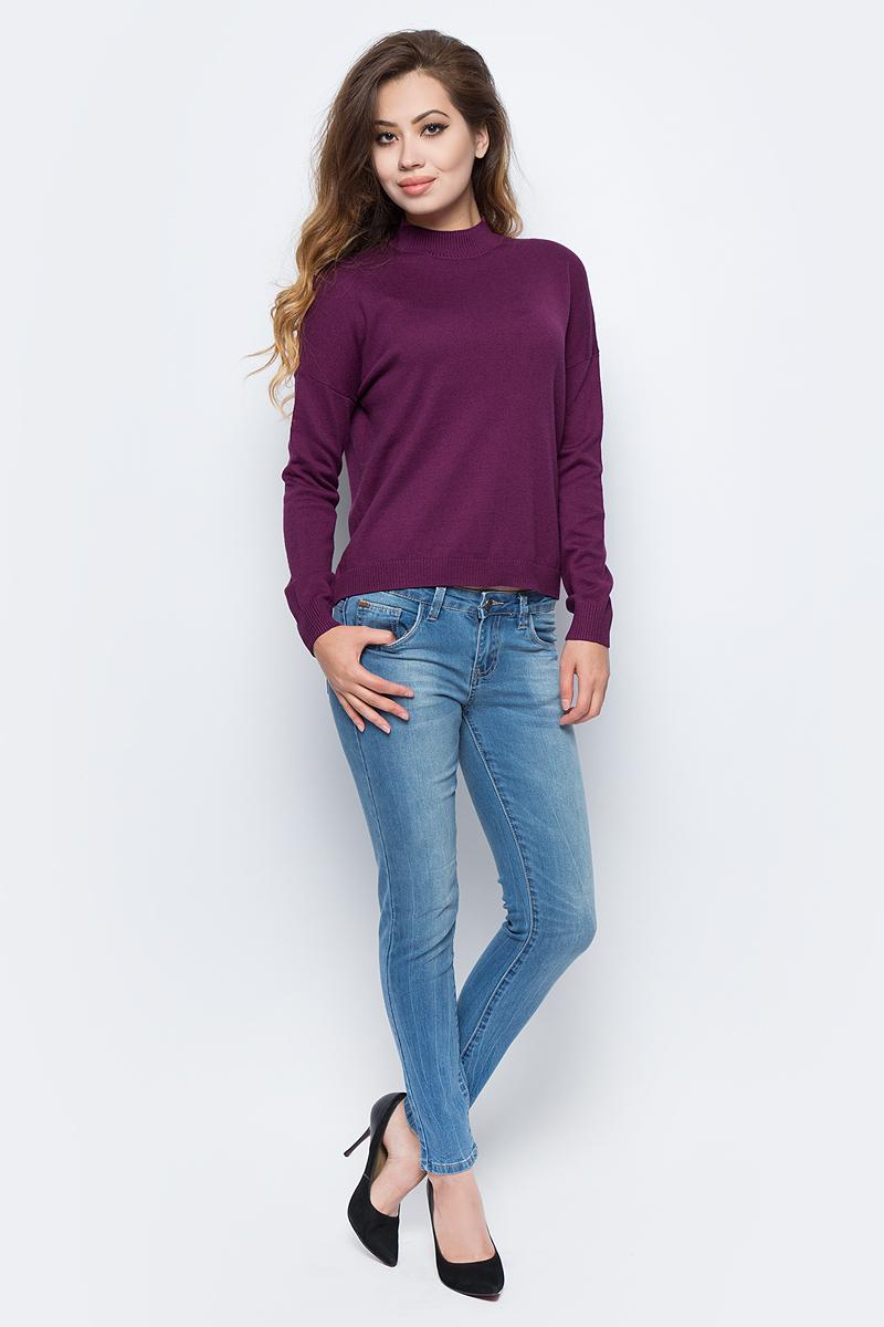 Джемпер жен Sela, цвет: амарантовый. JR-114/1227-7321. Размер XL (50)JR-114/1227-7321