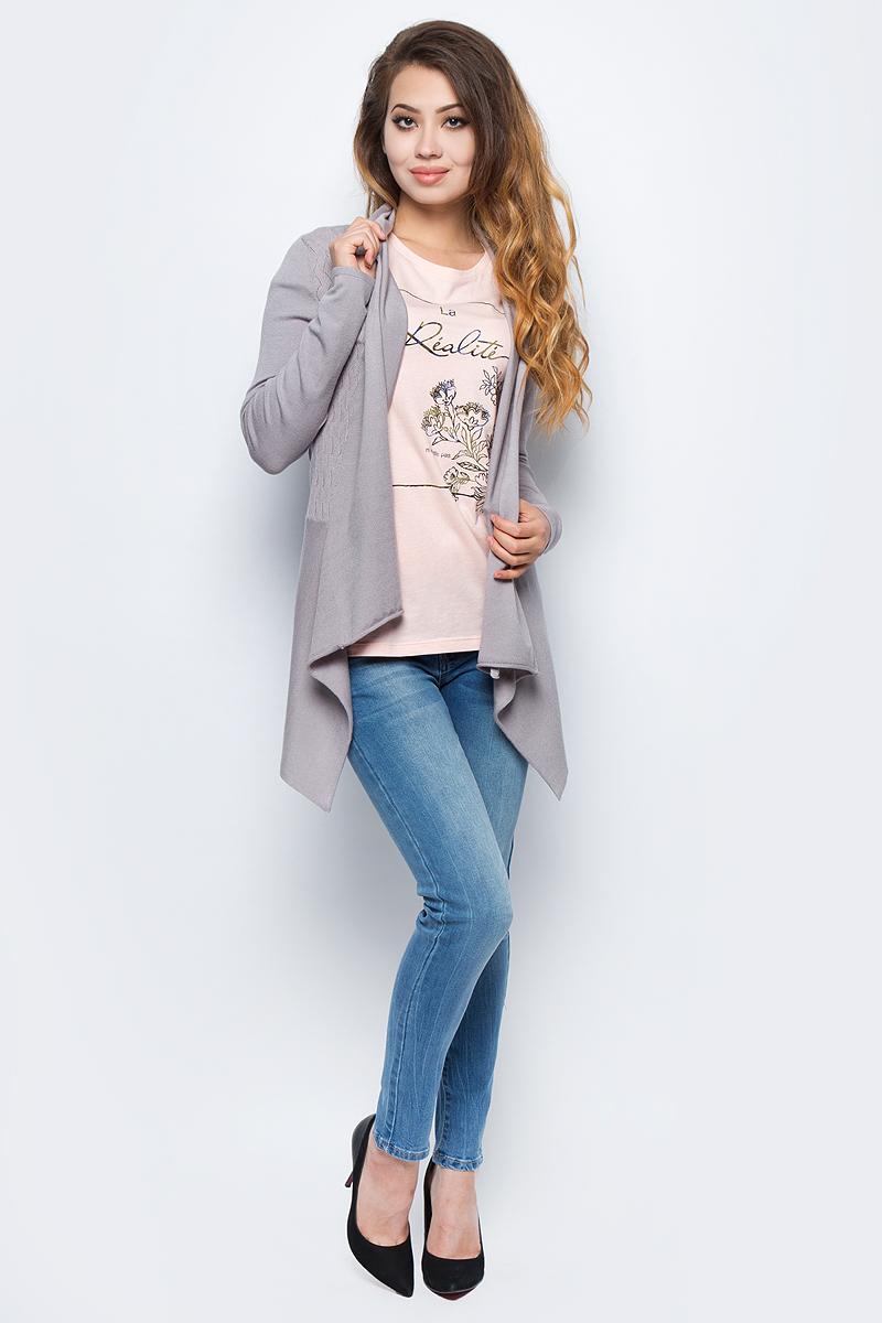 Жакет жен Sela, цвет: пыльно-серый. CN-114/2087-7341. Размер S (44)CN-114/2087-7341
