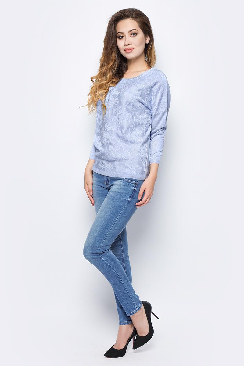 Джемпер жен Sela, цвет: прозрачно-голубой меланж. JR-114/676-7422. Размер XL (50)JR-114/676-7422