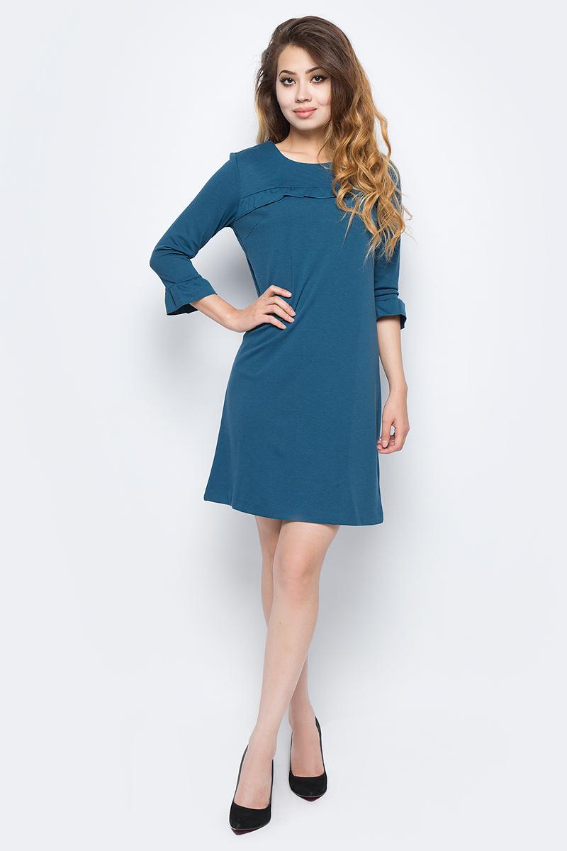 Платье жен Sela, цвет: морская вода. DK-117/1209-7341. Размер S (44)DK-117/1209-7341