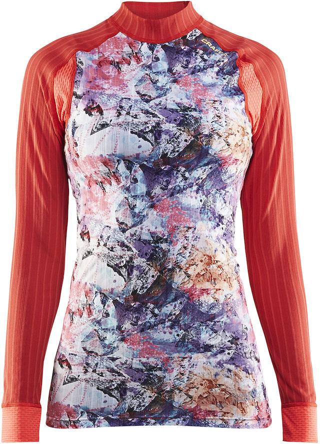Термобелье кофта женская Craft Active Extreme, цвет: коралловый с принтом. 1904491/2452. Размер XS (42)1904491/2452