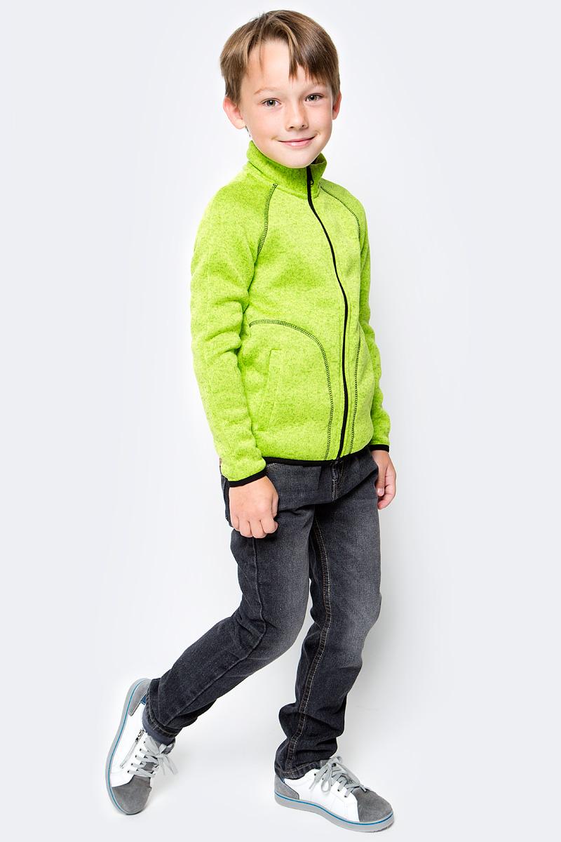 Толстовка флисовая для мальчика Oldos Active Бен, цвет: салатовый. 4К1710. Размер 116, 6 лет4К1710Толстовка на молнии из вязаного флиса OLDOS ACTIVE Бен для мальчика мальчика. С внешней стороны флис имеет вязаную фактуру, а с внутренней - ворсистую. Вязаный флис эффективно отводит влагу, защищает от ветра, держит тепло и позволяет коже дышать. Воротник-стойка хорошо прилегает и закрывает шею ребенка от ветра. Изнутри шов воротника укреплен х/б лентой, что предотвращает деформацию и натирание. Низ рукавов и кофты окантованы эластичной тесьмой, есть карманы. Толстовка приятна телу, мягкая и легкая. В изделии будет комфортно и тепло на улице и в помещении. Можно использовать в качестве второго слоя в осенне-зимний период.