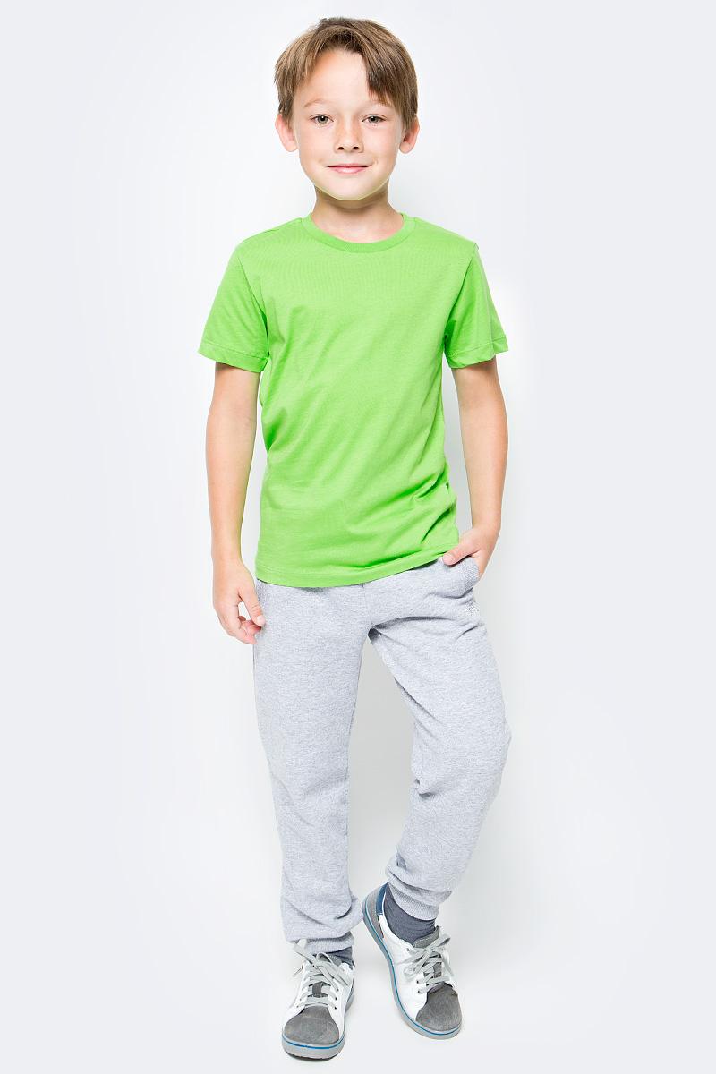 Футболка для мальчика Cherubino, цвет: зеленое яблоко. CAJ 6931. Размер 140CAJ 6931Футболка для мальчика Cherubino выполнена из мягкого и приятного на ощупь материала - кулирки (100% хлопок). Модель лаконичного дизайна с короткими рукавами и круглым вырезом горловины. Такая футболка прекрасно дополнит базовый гардероб вашего ребенка.