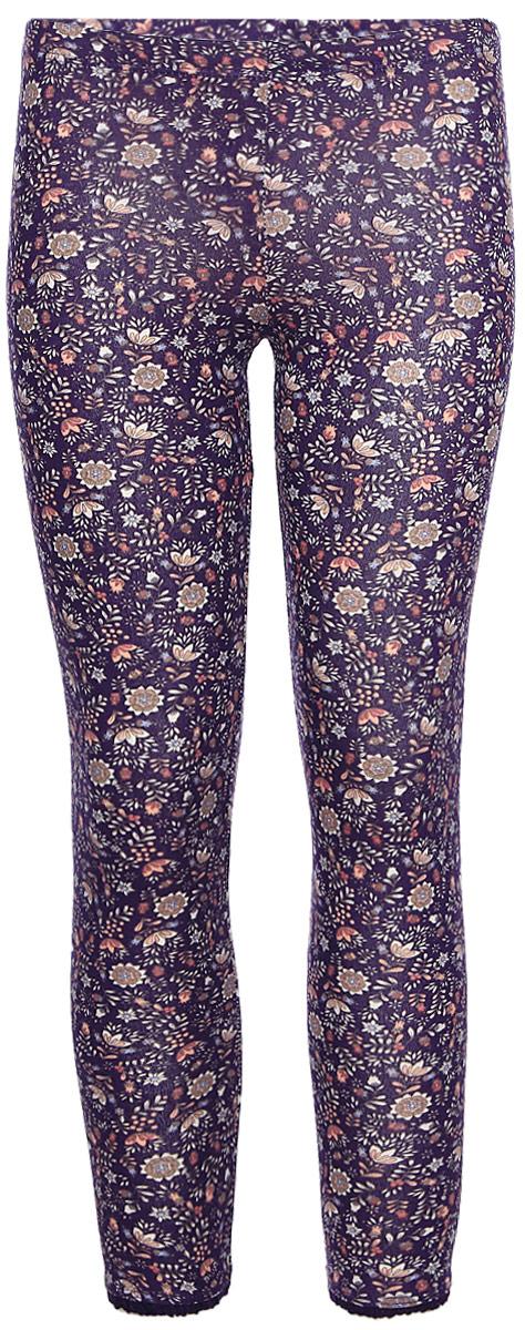Брюки для девочек Sela, цвет: фиолетовый. PLG-515/393-7321. Размер 92PLG-515/393-7321