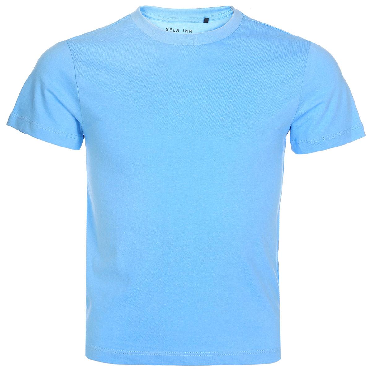 Футболка для мальчиков Sela, цвет: голубой. Ts-711/355-7341. Размер 92Ts-711/355-7341