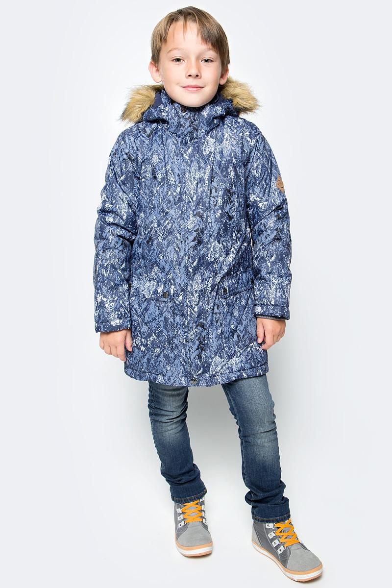 Куртка для мальчика Huppa Vesper, цвет: темно-синий. 17480030-73286. Размер 14617480030-73286Куртка для мальчика Huppa c длинными рукавами, воротником-стойкой и съемным капюшоном выполнена из высококачественного водонепроницаемого и ветрозащитного материала на основе полиэстера. Модель застегивается на застежку-молнию с защитой подбородка спереди и имеет ветрозащитный клапан на кнопках. Куртка дополнена светоотражающими элементами, все швы проклеены.