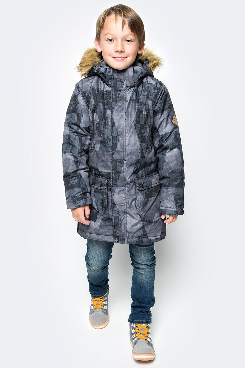 Куртка для мальчика Huppa Vesper, цвет: черный. 17480030-72409. Размер 14017480030-72409Куртка для мальчика Huppa c длинными рукавами, воротником-стойкой и съемным капюшоном выполнена из высококачественного водонепроницаемого и ветрозащитного материала на основе полиэстера. Модель застегивается на застежку-молнию с защитой подбородка спереди и имеет ветрозащитный клапан на кнопках. Куртка дополнена светоотражающими элементами, все швы проклеены.