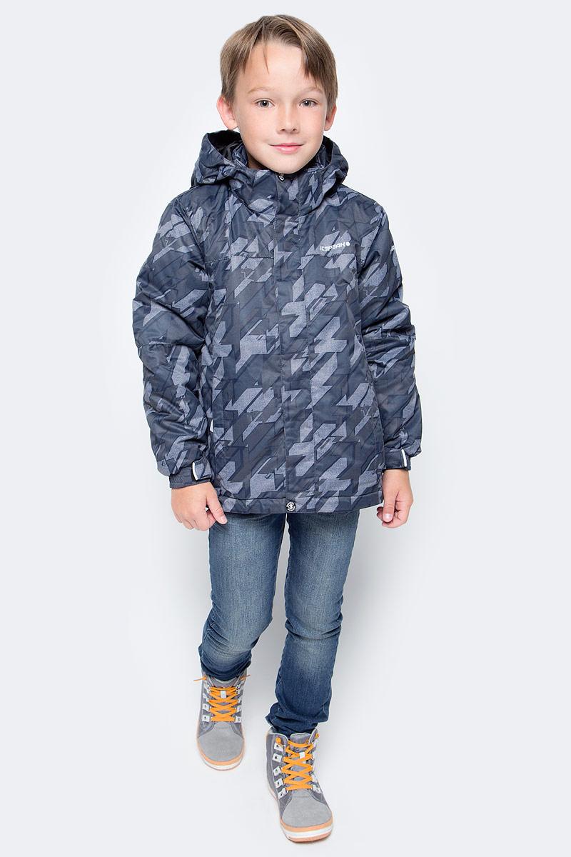 Куртка для мальчика Icepeak Herman Jr, цвет: черный, серый. 650029571IV. Размер 116650029571IV_990Куртка для мальчика Icepeak Herman Jr выполнена из 100% полиэстера. Материал изготовлен при помощи технологии Icemax, которая обеспечит вашему ребенку надежную защиту от ветра и влаги. В качестве подкладки также используется полиэстер. Утеплителем служит материал FinnWad, который обладает высокими теплоизоляционными свойствами. Модель с воротником-стойкой и съемным капюшоном застегивается на застежку-молнию с защитой для подбородка и имеет ветрозащитную планку на липучках и кнопках. Капюшон пристегивается к изделию на кнопки. Низ рукавов дополнен эластичными вставками и хлястиками на липучках, а низ изделия - несъемной манжетой с прорезиненным нижним краем. Спереди расположены два прорезных кармана на застежках-молниях, а с внутренней стороны - накладной карман-сетка и прорезной карман на застежке-молнии. На левом рукаве расположен небольшой прорезной карман на застежке-молнии. Куртка оснащена специальными деталями Childrens safety для дополнительной безопасности ребенка во время занятий спортом и активного отдыха на улице.