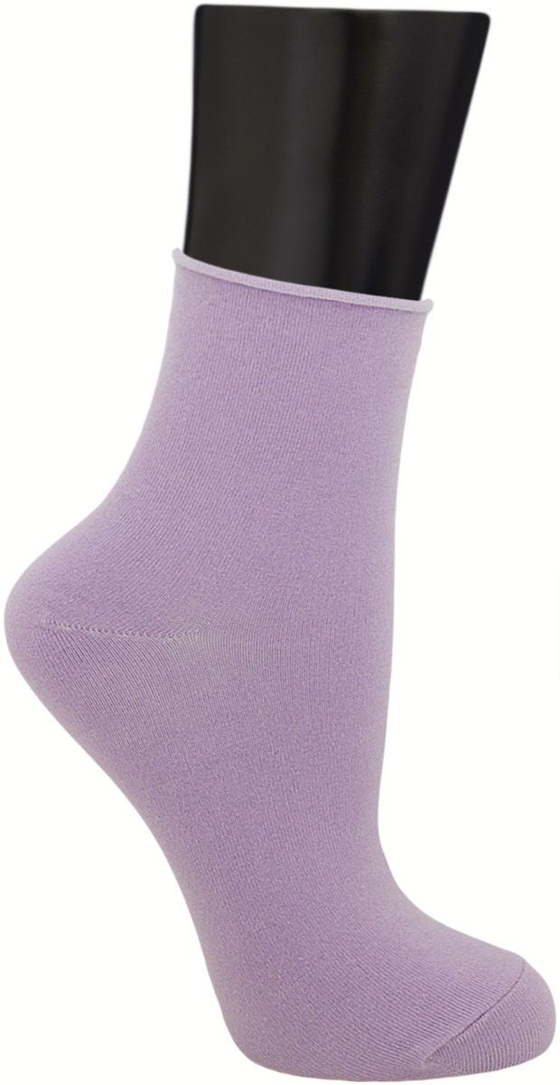 Носки женские Гранд, цвет: светло-фиолетовый, 2 пары. SCL122. Размер 23/25SCL122Женские носки без резинки по уникальной технологии: - основа материала – высококачественный хлопок; - хорошо держат форму и обладают повышенной воздухопроницаемостью; - мягкие, удобные, эластичные; - ослабленная резинки способствует снятию синдрома тяжести в ногах. Рекомендуются людям, страдающих заболеваниями ног и ведущим малоподвижный образ жизни.