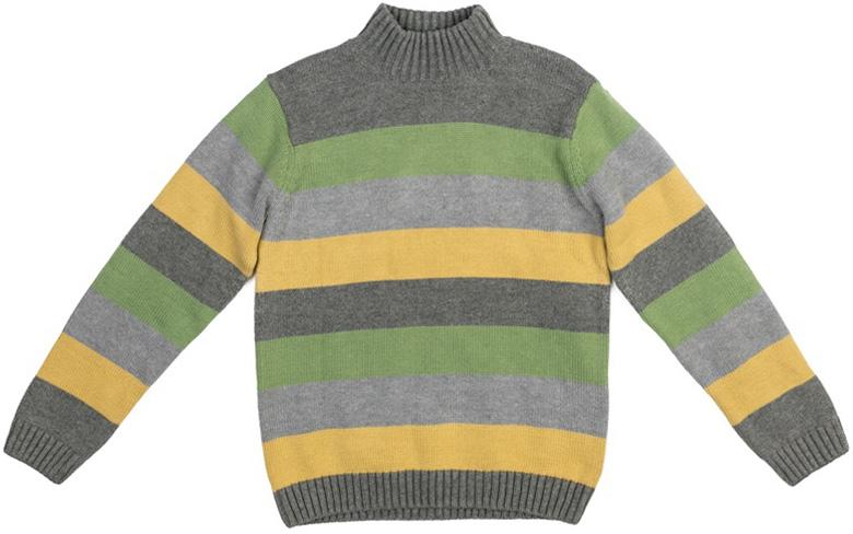 Свитер для мальчика Scool, цвет: серый, зеленый, светло-зеленый, светло-желтый. 373056. Размер 134373056