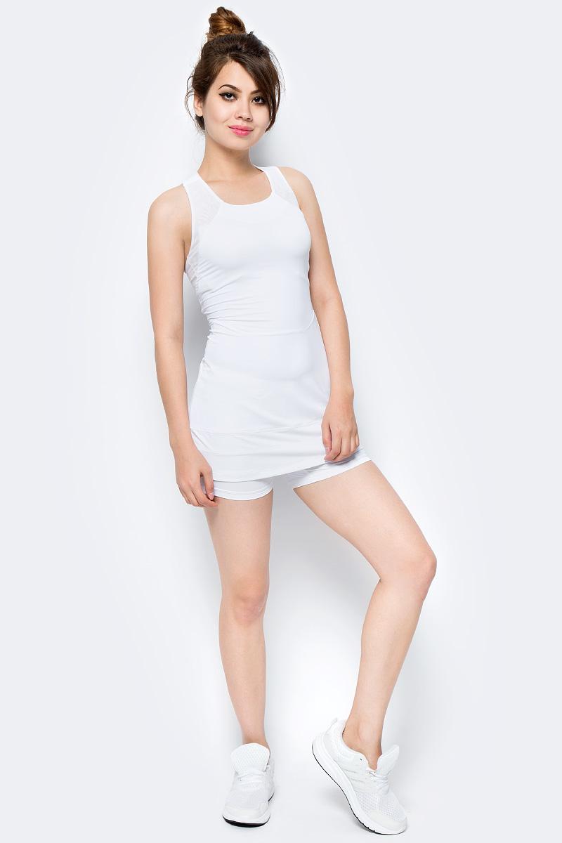 Платье женское Asics Athlete Y Dress, цвет: белый. 146479-0001. Размер S (44/46)146479-0001Классика на десятилетия. Заявите о себе в этом теннисном платье от Asics. Достаточно открытая спинка придает особый комфорт по время игры. Материал дарит приятные ощущения на всем протяжении матча. Культовый силуэт и по-настоящему женственный стиль.
