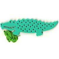 Купить Флексика Игра-шнуровка Крокодил