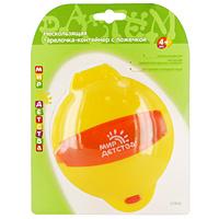 Купить Тарелочка-контейнер с ложечкой Мир детства , от 4 месяцев, цвет: желтый, красный, Мир Детства