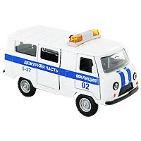Купить ТехноПарк Модель автомобиля УАЗ Полиция Дежурная часть, Shantou City Daxiang Plastic Toy Products Co., Ltd