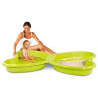 Купить Smoby Песочница-бассейн Бабочка , 112 см х 168 см х 19 см
