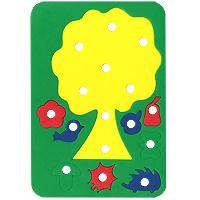 Купить Бомик Игра-шнуровка Дерево с плодами
