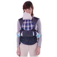 Купить Слинг-рюкзак Бебимобиль Хип , эргономичный, цвет: синий, Чудо-Чадо