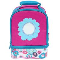 Купить Сумка-термос Lunch Kit Floral Dual для ланча, детская, цвет: розовый, голубой, Thermos