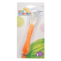 Купить Ложка для кормления Мир детства , силиконовая, цвет: оранжевый, Мир Детства
