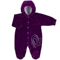 Купить Комбинезон для девочки Lucky Child, цвет: сливовый. 2-21. Размер 56/62, Одежда для новорожденных