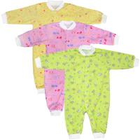 Купить Комплект комбинезонов для девочки Фреш стайл, 3 цвета, 3 шт. 10-527д. Размер 86, 18 месяцев, Фреш Стайл, Одежда для новорожденных