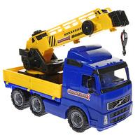 Купить Автомобиль-кран Globetrotter , с поворотной платформой, цвет: синий, Полесье, Машинки