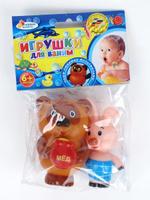 Купить Набор игрушек для ванны Играем вместе Винни-Пух и Пятачок , 2 шт, Shantou City Daxiang Plastic Toy Products Co., Ltd, Первые игрушки