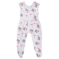 Купить Ползунки с грудкой Трон-плюс, цвет: белый, розовый, рисунок коровы. 5221. Размер 68, 6 месяцев, Одежда для новорожденных
