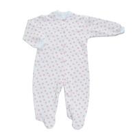 Купить Комбинезон детский Трон-Плюс, цвет: белый, розовый, рисунок звезды. 5821. Размер 74, 9 месяцев, Трон-плюс, Одежда для новорожденных