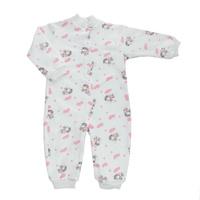 Купить Комбинезон детский Трон-Плюс, цвет: белый, розовый, рисунок коровы. 5823. Размер 74, 9 месяцев, Трон-плюс, Одежда для новорожденных