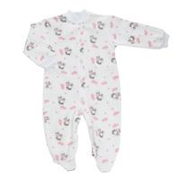 Купить Комбинезон детский Трон-Плюс, цвет: белый, розовый, рисунок коровы. 5821. Размер 74, 9 месяцев, Трон-плюс, Одежда для новорожденных
