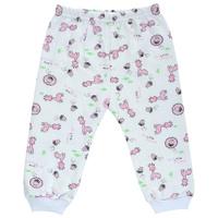 Купить Ползунки Трон-Плюс, цвет: белый, розовый, рисунок жирафы. 5325. Размер 68, 6 месяцев, Трон-плюс, Одежда для новорожденных